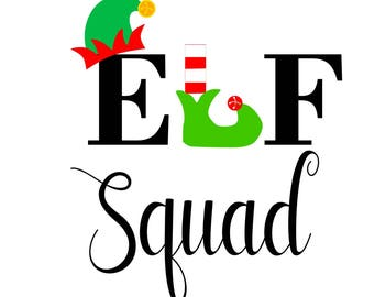 Christmas svg, elf squad svg, elf svg, elves svg, holiday svg, svg christmas, svg elf squad, svg elf, svg elves, svg holiday, santa svg, svg