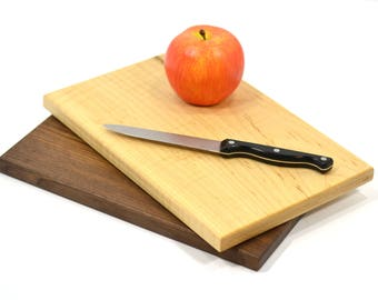 12 x 8 Cutting Board Set, Walnut and Maple-Reversable-Handmade in the USA