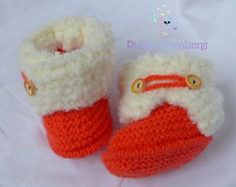 Baby booties baby boots filled