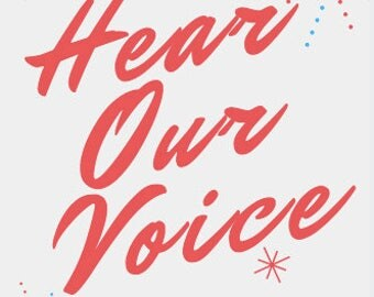 """Protest Sign Women's March """"Hear Out Voice"""" Digital Download Printable"""