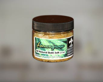 Lemongrass All Natural and Handmade Bath Salts 2 oz