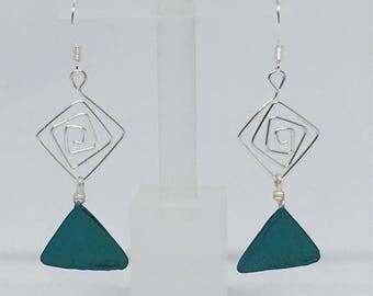 Handmade Square 'Gem' Earrings