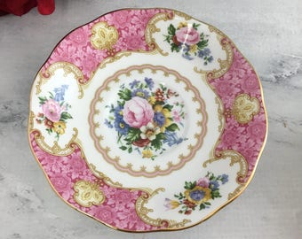 Orphan Saucer Royal Albert Lady Carlyle England Made Pink and Lovely