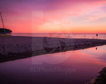 Reflected Sunset | Landscape Photo Art | Nature Lover Gift | Fine Art Photography | Personalization | BDPhotoShoppe | Home Office Decor