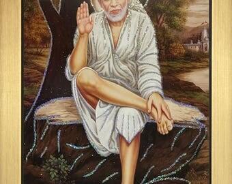 Sai Baba Picture Frames 12″ X 10″ Inches - Shirdi Maharashtra