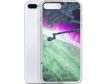 NASA Robotic Sky Space Station Satellite iPhone Case