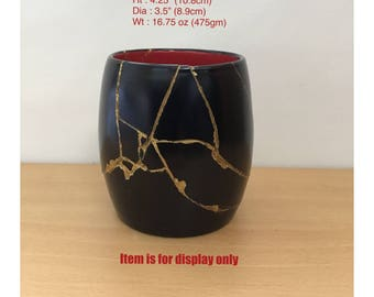 Decorative Mug restored by ancient Japanese art craft