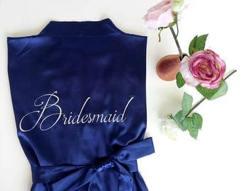 Bridesmaid Robes, Silk Satin Bridesmaid Robe, Customized Bridesmaid Robes, Kimono Satin Robes,  Future mrs Robes, Bridesmaid Robe Gift