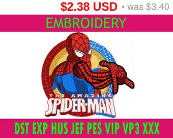 SALE 30% Spiderman embroidery / embroidery designs logo / Sports logo embroidery design / American football