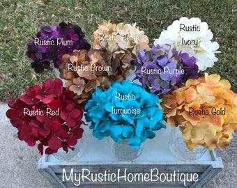 Add on hydrangea/hydrangea/hydrangeas/artificial flowers/rustic decor/rustic home decor/farmhouse decor