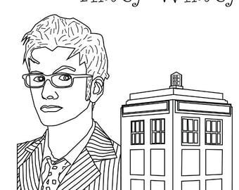 Dr. Who Coloring Page