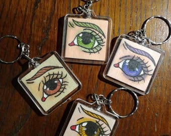 Key Chain little Eyes doll