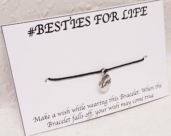 Besties Bracelet, Besties Wish Bracelet, Best Friend Wish Bracelet, Best Friend Gift, Besties for life Wish Bracelet, Wish Bracelet