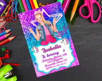 Jojo siwa Invitation-Jojo Siwa Birthday Invitation-Jojo Siwa Printable-Jojo Siwa Editable