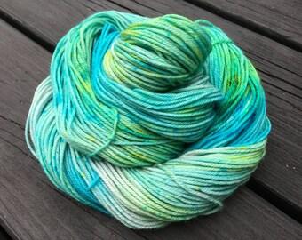 Lagoon - Super-Wash Merino & Nylon Hand-dyed DK Weight Yarn