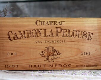 French wine crate front CHATEAU. Wine Bordeaux. Vins de Bordeaux. French wine panel. French wine dedor. Wine panel. Wine decor