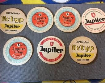 7 pieces Jupiler Beer Coasters
