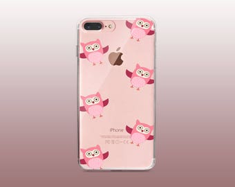 Owl Clear TPU Phone Case for iPhone 8- iPhone 8 Plus - iPhone X - iPhone 7 Plus-iPhone 7-iPhone 6-iPhone 6S-Samsung S8