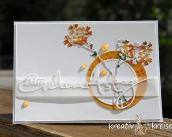 Birthday card flowers, with envelope, handmade handmade//Birthday card, greeting card