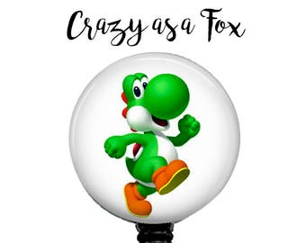 Yoshi Retractable Badge Holder, Badge Reel, Lanyard, Stethoscope ID Tag, Nurse, RN, Doctor, Teacher, Nursing student