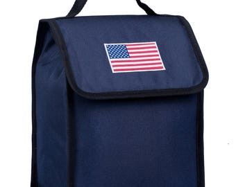 State of Mind USA Flag Lunch Bag