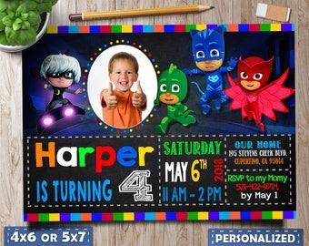 Pj Masks Invitation photo, Pj Masks Invitation, Pj Masks Birthday, Pj Masks Party, Pj Masks Invitation digital, pj masks party favors
