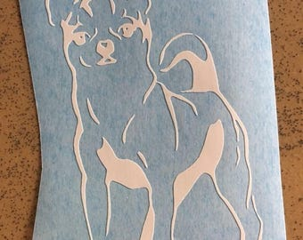 Dog Chihuahua dog decal car