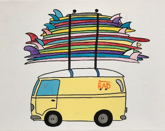 Surf Van Canvas