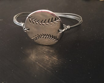 Baseball/softball wire bangle