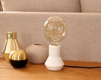 Alabaster Lamp base, Desk Lamp, Edison, Alabaster desk lamp, Table lamp.