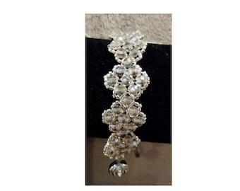 Silvery Crystal Ice Bracelet