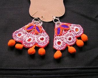 Jolly Frida Kahlo inspired earrings