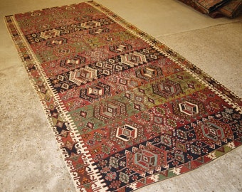 Old Turkish Malatya Kilims, Woven In Two Parts, Superb Design & Colour, Circa 1900/20