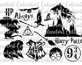 Harry Potter Svg, Harry Potter, Harry Potter Cut File, Silhouette Cricut, Png, Eps, Svg, dxf, Pdf