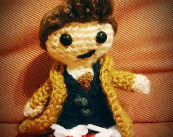 Tenth Doctor David Tennant Doctor Who Crochet Doll Figure