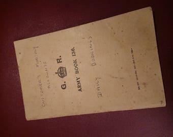 Ww2 army notebook