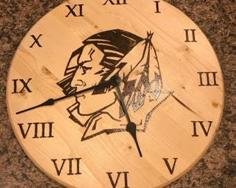 Fighting Sioux Clock