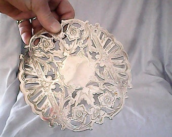 vintsge SILVER HOT TRAY