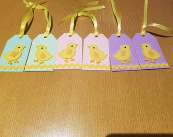 Easter gift tag etsy easter gift tags easter favor tags easter chick tags set of 6 negle Choice Image