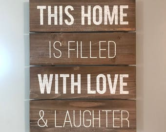 This Home, Wooden Sign
