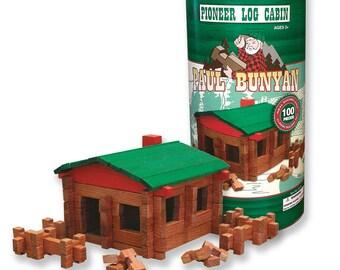 Paul Bunyan 100 pc Log Building Set, Made in the USA