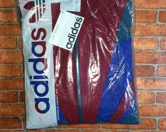 Vintage Adidas 90s Bomber Jacket Spell Out Oldstock Complete with Tag and plastic Bag |Adidas|Puma|Nike|Diadora|