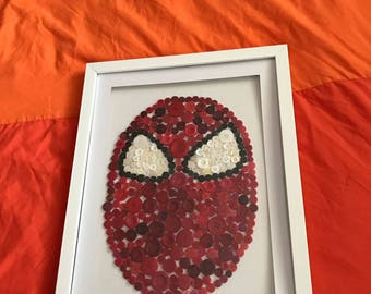 Superhero button artwork, perfect for any child's bedroom