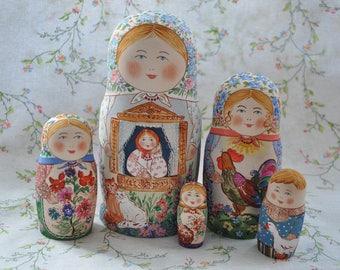 Matryoshka - Russian Nesting Doll, Handmade