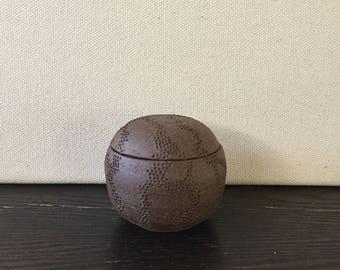 Organic Patterned Dotted Globe Jar
