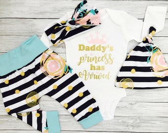 Newborn Girl Coming Home Outfit, Newborn Girl Outfit, Newborn Girl, Coming Home Outfit Baby Girl, Newborn Girl Clothes, Daddys Princess