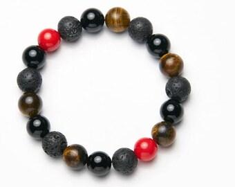 Mens-Women's Bracelet * Red coral */mens-Womens Bracelet * Red Coral *