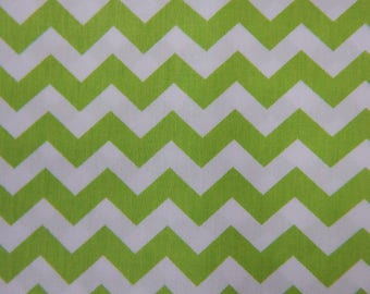 Lime Green Chevron Fabric, green and white chevron,Fabric Finders,100% cotton,60 inches wide,quilting fabric,sewing fabric,craft fabric
