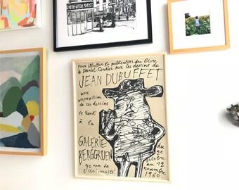 Framed Jean Dubuffet-Galerie Berggruen Lithograph-1960
