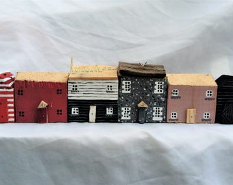 Driftwood Cottage Row, Kent,Whitstable inspired.FLOTSAM SOUP STUDIO.Seaside.House